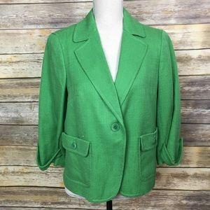 Talbots Green Jacket/Blazer, Size 14P, NWT